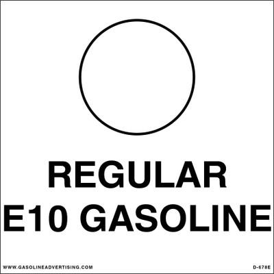 D-678E API Color Coded Decal - REGULAR E1O GASOLINE