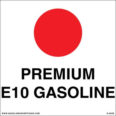D-680E API Color Coded Decal - PREMIUM E1O GASOLINE
