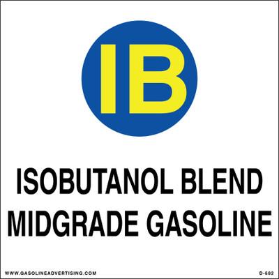 D-682 API Color Coded Decal - ISOBUTANOL BLEND GASOLINE