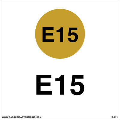 D-771 API Color Coded Decal - E15