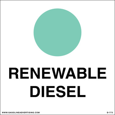 D-773 API Color Coded Decal - RENEWABLE DIESEL