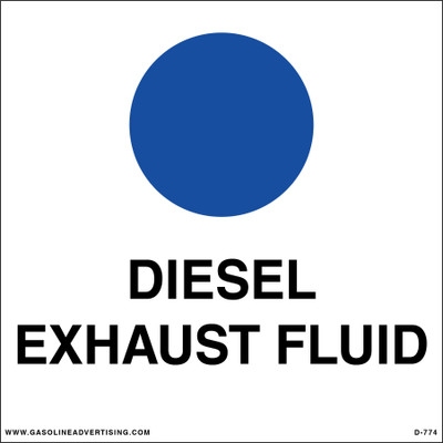 D-774 API Color Coded Decal - DIESEL EXHAUST FLUID