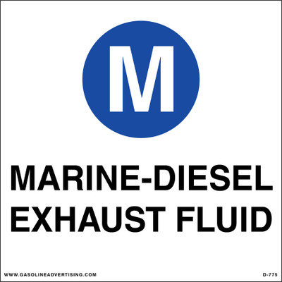 D-775 API Color Coded Decal - MARINE - DIESEL EXHAUST FLUID