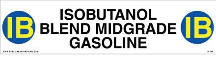 D-780 API COLOR CODED DECAL - ISOBUTANOL BLEND MIDGRADE GASOLINE