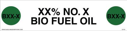 D-781 API COLOR CODED DECAL - XX% NO. X BIO FUEL OIL