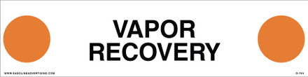 D-784 API COLOR CODED DECAL - VAPOR RECOVERY
