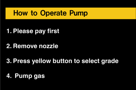 D-725C Fueling Instruction Decal - HOW TO OPERATE...