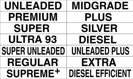 Magnetic Price Sign ID Decal Sheets