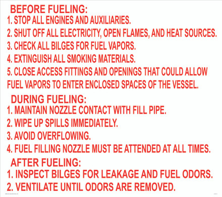 CAS13-31C - FUELING INSTRUCTIONS...BEFORE FUELING...