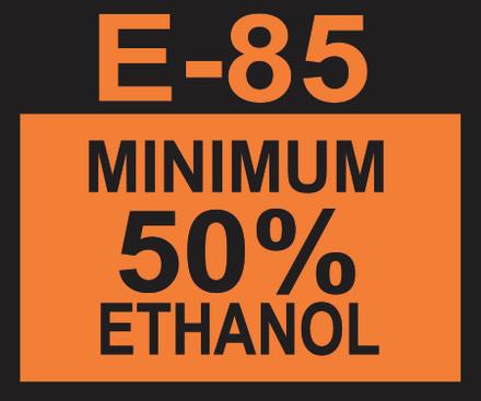 D-20-E85-50 Octane & Cetane Rating Decal - E85 50%...