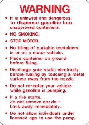 CAS-BJ6 Aluminium Sign - Warning...