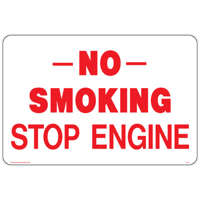 AS-17 Aluminium Sign - NO SMOKING