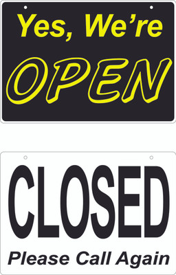 AS-21 Aluminum Sign - OPEN / CLOSE