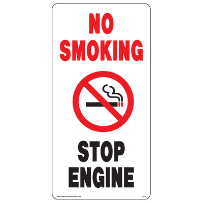 AS-24 Aluminium Sign - No Smoking