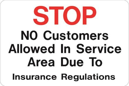 AS-25 Aluminium Sign - No Customers