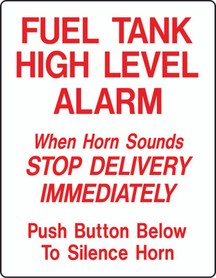 AS-46 Aluminium Sign - High Level Alarm Sign