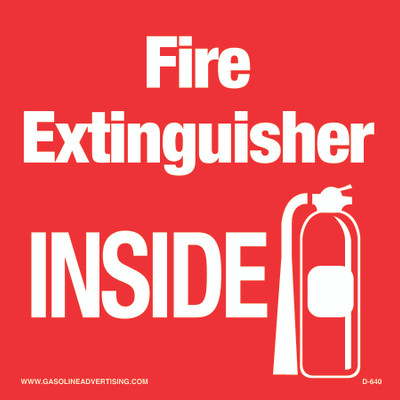 D-640 Emergency & Fire Prevention Decal - Fire Extinguisher...