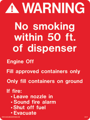 AS-47 Aluminium Sign - WARNING No Smoking