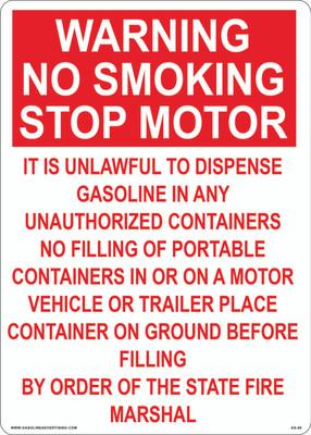 AS-50 Aluminium Sign - Warning No Smoking