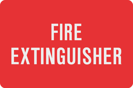 AS51 Aluminum Sign - FIRE EXTINGUISHER