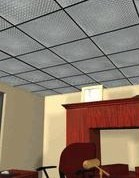 Diamond plate ceiling tiles from CutsMetal