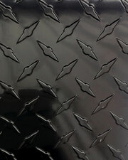 Black Diamond Plate - these thin black diamond plate sheets work great as wainscoting material / diamond plate wall panels, and will make your garage, home or man cave the envy of the neighborhood. Black sheets also go great with our other painted aluminum diamond plate products.