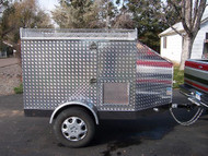 Diamond Plate 5 Bar Custom Dog Trailer