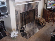 Diamond Plate Fireplace