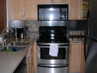 Diamond Plate Kitchen Backsplash
