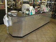 Diamond Plate Sales Counter