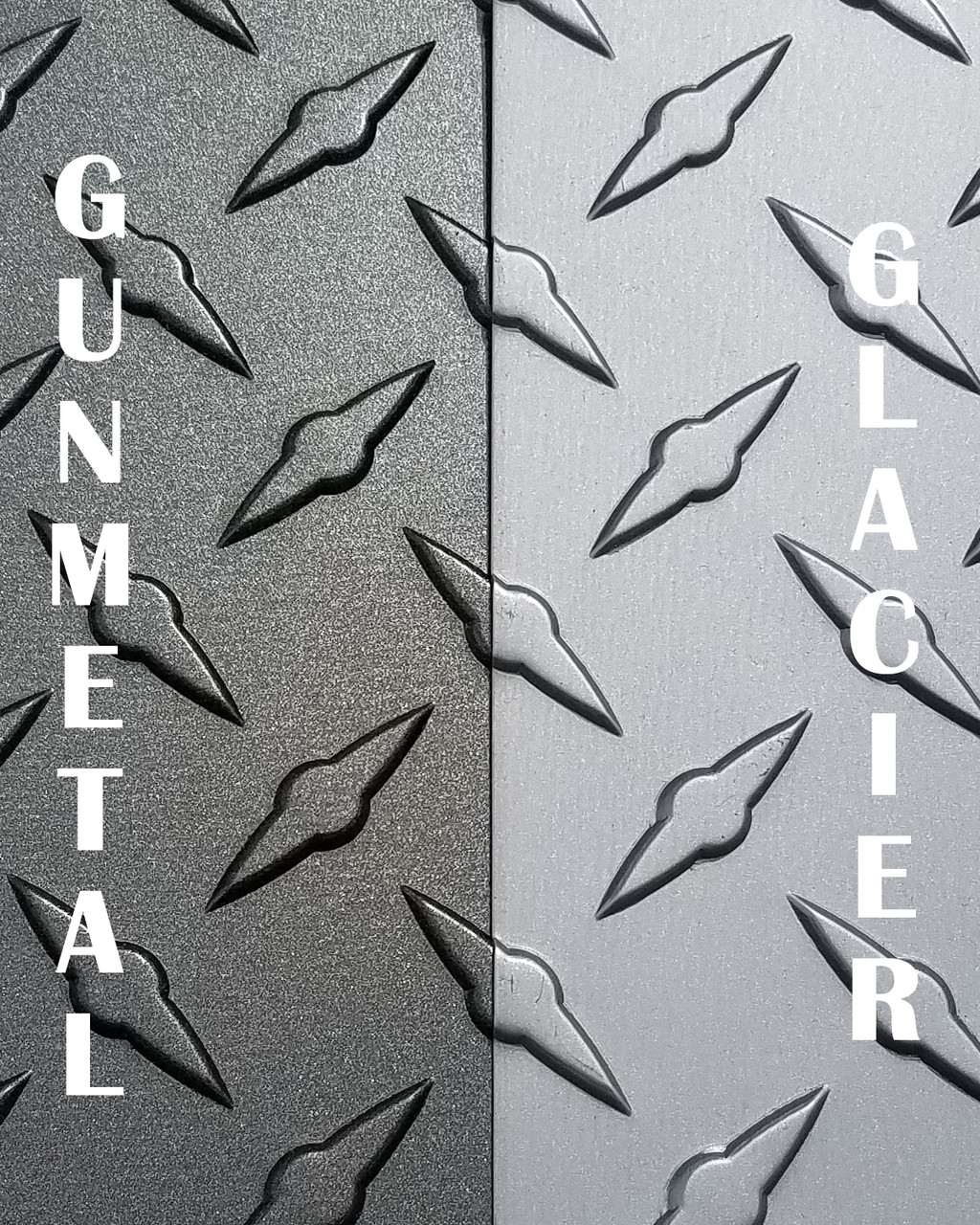48 Quot X 120 Quot Gunmetal Amp Glacier Gray Diamond Plate Sheets