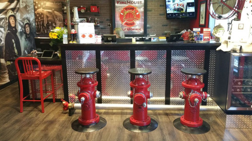 Firehouse Man Cave Using Diamond Plate Sheets From Cutsmetal