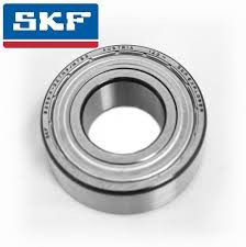 SKF bearings are manufactured to the highest quality standards. One of the  most commonly used bearings, these types are manufactured with metal shields  inserted into the outer raceway, these fit in closely to the inner race  providing protection against light mechanical damage, some protection  against the ingress of moisture, dust and other foreign matter and serve to  retain the pre-filled grease in the bearing.