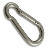 Stainless Steel Carbine Hook, 8 x 80mm