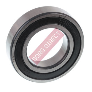 FAG bearings are manufactured to the highest quality standards. These are  one of the most commonly used bearings, these types are manufactured with  rubber seals inserted into the outer raceway and in contact with the inner  race providing protection against the ingress of moisture, dust and other  foreign matter and serve to retain the pre-filled grease in the bearing. Seals can be easily removed.