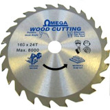 Omega Thin Kerf TCT Saw Blade 136mm x 24 Tooth