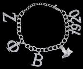 ZPB - Silver Charm Bracelet w/Stones