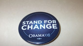 Stand For Change  Obama Button