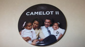 Button:  Camelot II  Obama Family Button