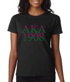 """""""AKA  1908""""  Rhinestone  Apparel"""
