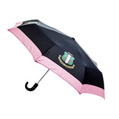 AKA  Black/Pink Mini Auto up/down Umbrella