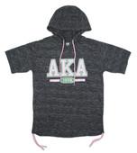 Hoodie:   AKA Black  Short Sleeves  Hoodie