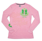T shirt:  AKA  Long Sleeve T shirt  ( Pink )