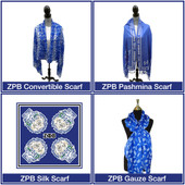 Set of 4  Zeta Phi Beta  Scarves (FREE SHIPPING)