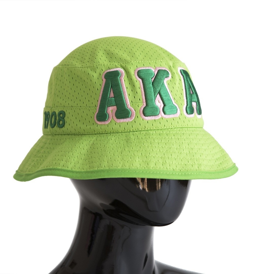 AKA Green Embroidered Bucket Hat - Prime Heritage Gifts ab6aff37b27