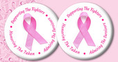 3  Inch Breast Cancer Awareness  Buttons                                FREE SHIPPING
