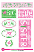 STICKERS:  ALPHA KAPPA ALPHA  TIE DYE  STICKERS
