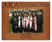 Celebrate the achievement of Greek graduates  with this personalized photo frame.