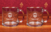 Glass Mugs- A set of 2 ( 13 oz )  Clear Glass Mugs