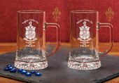 Glass Mugs- A set of 2 ( 17.5oz ) Maxim Mugs